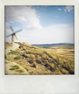Windmill Overlooking the Plains of La Mancha